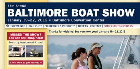 Baltimore Boat Show official website