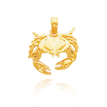Gold Crab Pendant