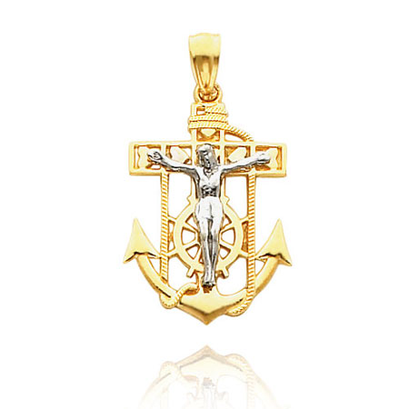 Gold Mariners Crucifix